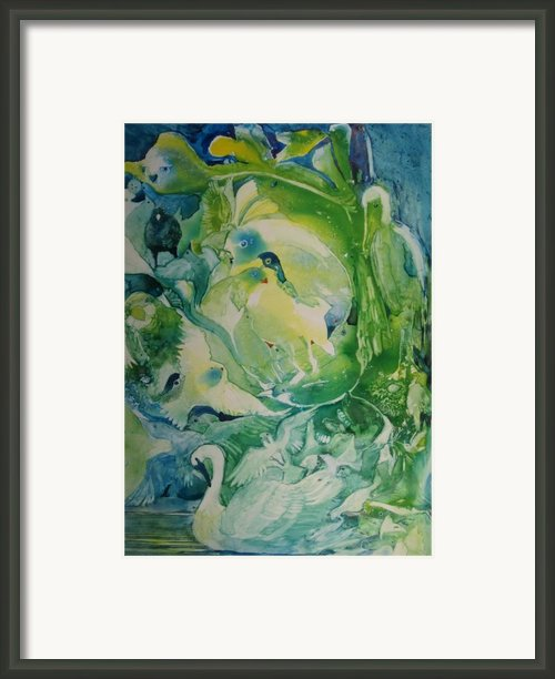 Birdwatching With Escher Framed Print By Elizabeth Carr