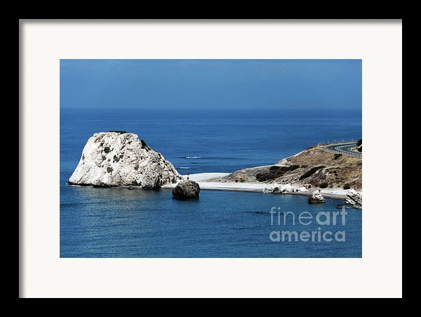 Birth Place Of Aphrodite Framed Print By John Rizzuto