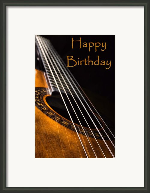 Birthday Guitar Framed Print By Jeremy Sage