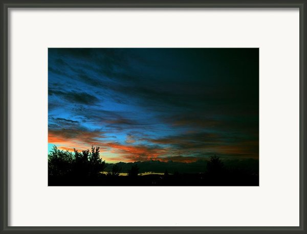 Black And Blue Framed Print By Kevin Bone