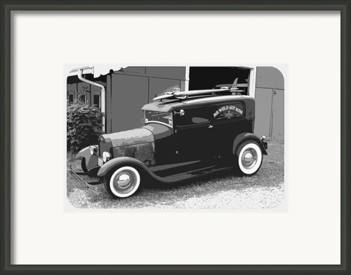 Black And White Surf Rod Framed Print By Steve Mckinzie