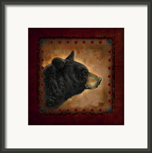 Black Bear Lodge Framed Print By Jq Licensing