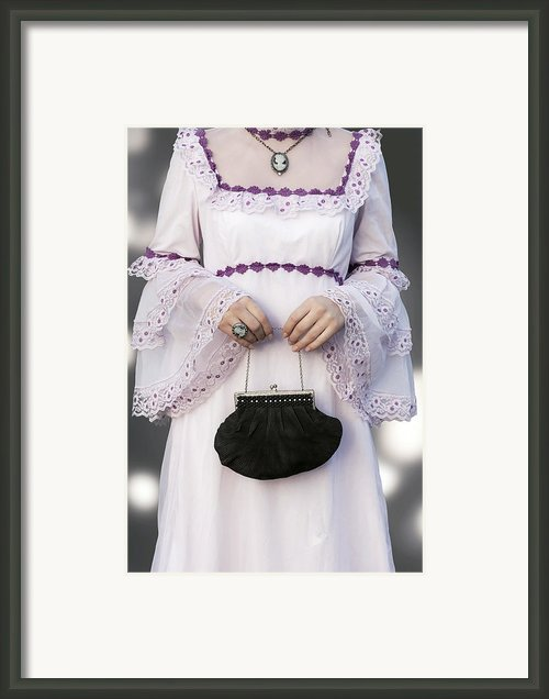 Black Handbag Framed Print By Joana Kruse