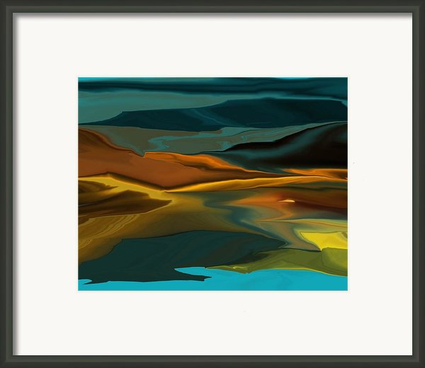 Black Hills Abstract Framed Print By David Lane