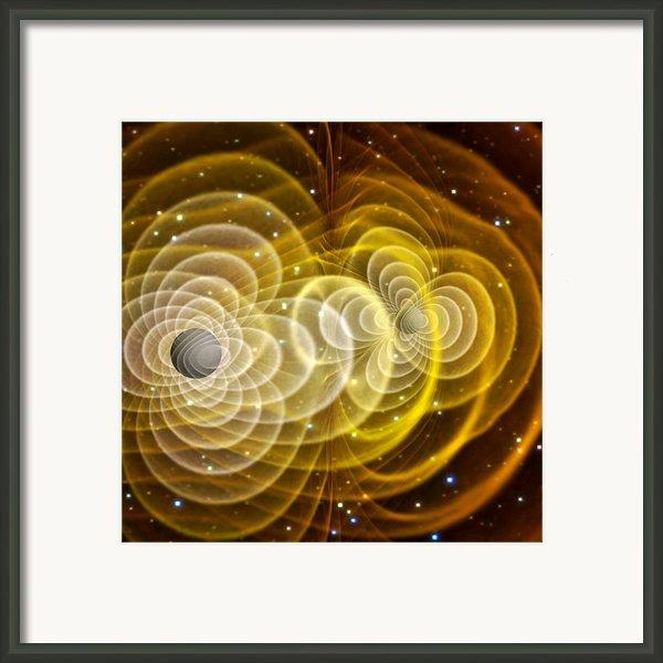 Black Holes Merging Framed Print By Chris Henzenasa