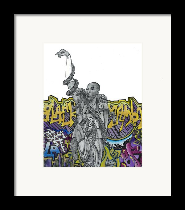 Black Mamba Framed Print By Steve Weber