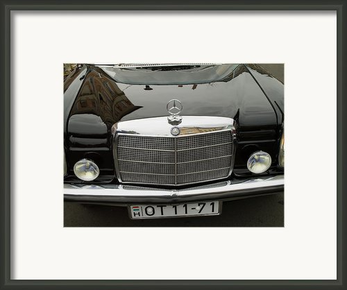 Black Mercedes Logo Framed Print By Odon Czintos