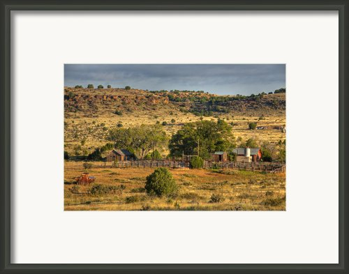 Black Mesa Ranch Framed Print By Charles Warren