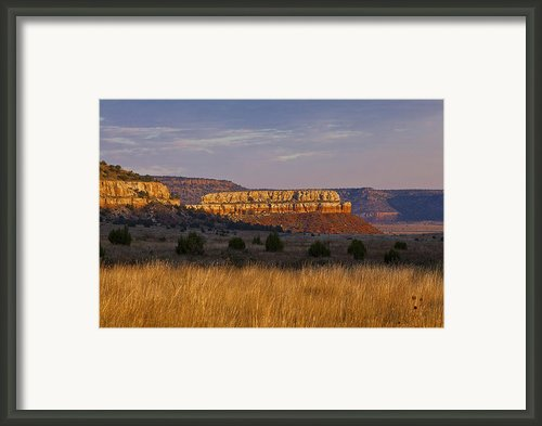 Black Mesa Sunrise Framed Print By Charles Warren