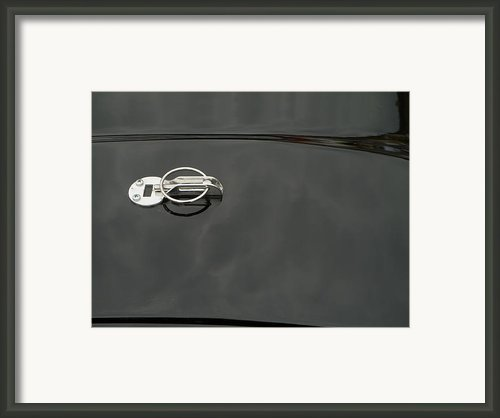 Black Old Car Detail Framed Print By Odon Czintos