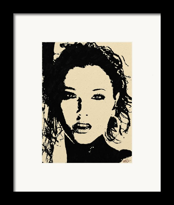 Black On Cream Framed Print By James Shepherd