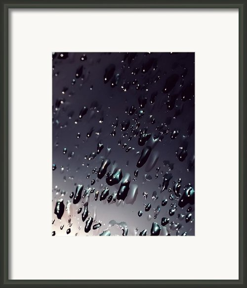 Black Rain Framed Print By Steven Milner