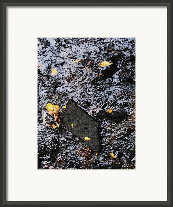 Black Rock At Graue Mill Framed Print By Todd Sherlock