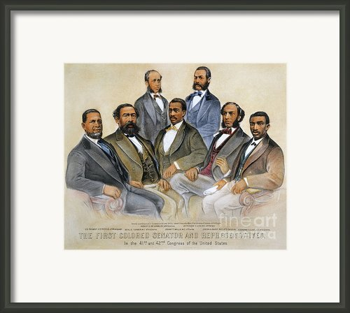 Black Senators, 1872 Framed Print By Granger