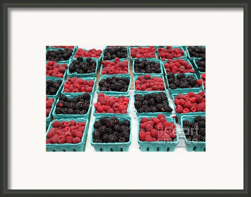 Blackberries And Rasberries - 5d17827 Framed Print By Wingsdomain Art And Photography