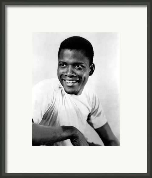 Blackboard Jungle, Sidney Poitier, 1955 Framed Print By Everett