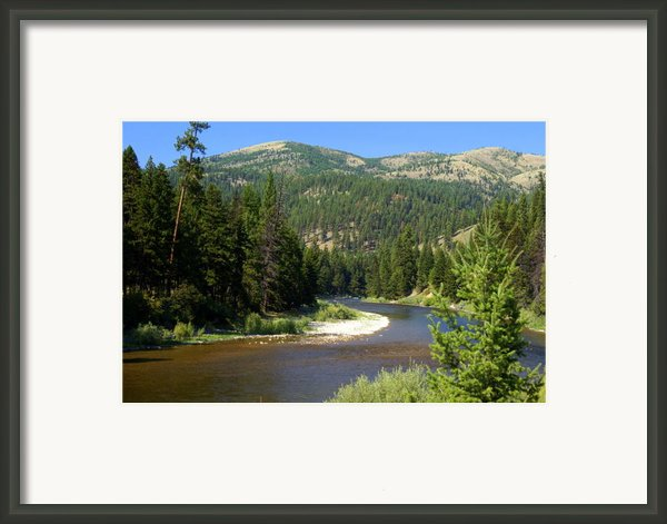 Blackfoot River 1 Framed Print By Marty Koch