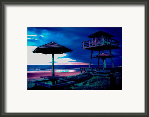 Blacklight Tower Framed Print By Digiart Diaries By Vicky Browning
