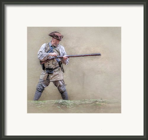 Blackpowder Woodsman Version Two Framed Print By Randy Steele