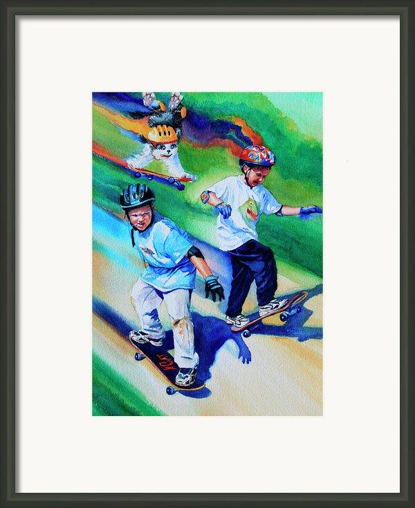 Blasting Boarders Framed Print By Hanne Lore Koehler