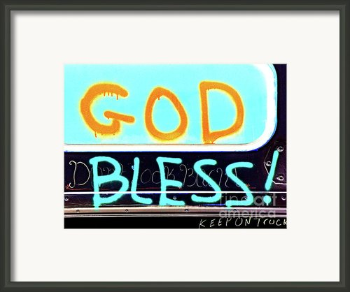 Bless You Framed Print By Joe Jake Pratt