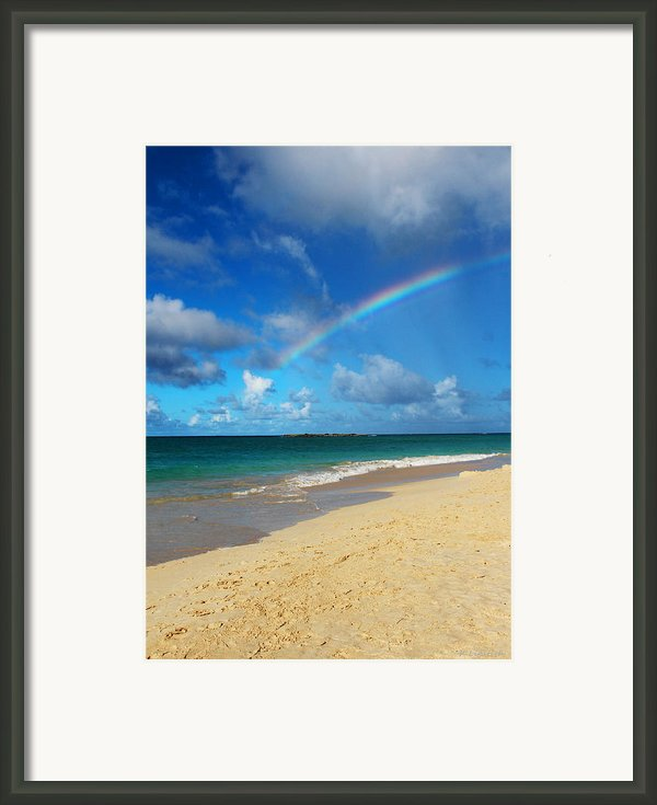 Blessed With A Rainbow Framed Print By Kerri Ligatich