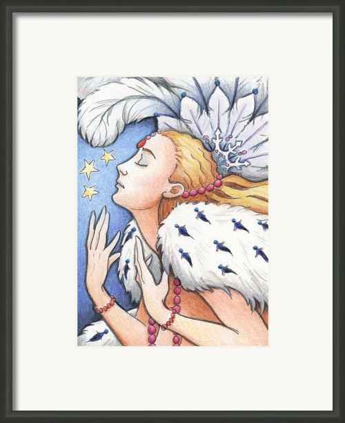 Blissful Winter Framed Print By Amy S Turner