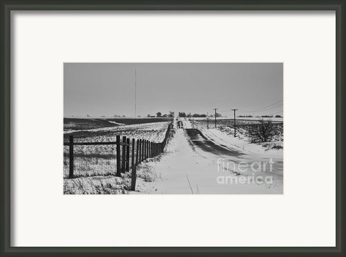 Blizzard   Framed Print By Wilma  Birdwell