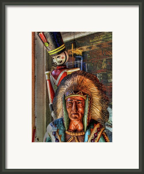 Block Heads Framed Print By Joetta West