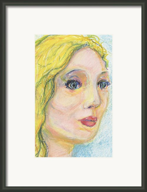 Blond  Framed Print By Derrick Hayes