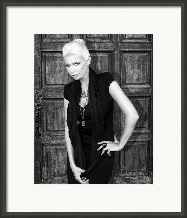 Blonde Attitude Bw Framed Print By William Dey