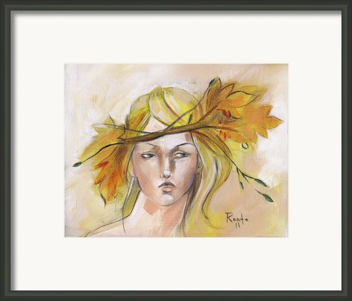 Blonde Autumn Forward Framed Print By Jacque Hudson-roate
