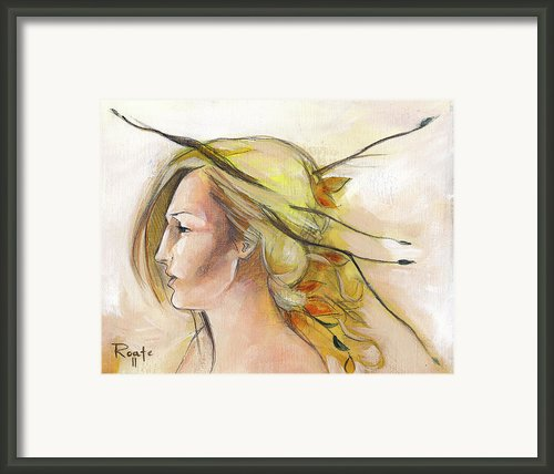 Blonde Autumn Left Framed Print By Jacque Hudson-roate