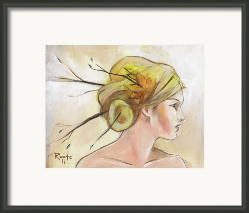 Blonde Autumn Right Framed Print By Jacque Hudson-roate