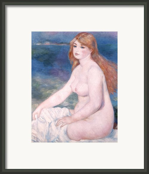 Blonde Bather Ii Framed Print By Renoir
