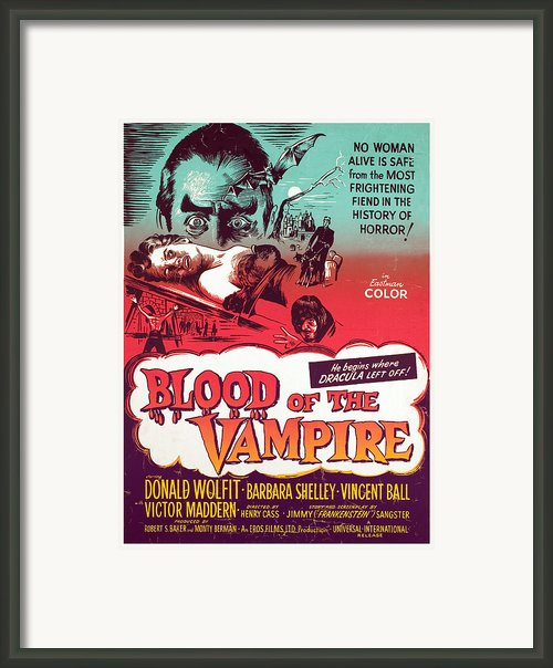 Blood Of The Vampire, Donald Wolfit Framed Print By Everett
