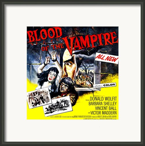 Blood Of The Vampire, From Left Barbara Framed Print By Everett
