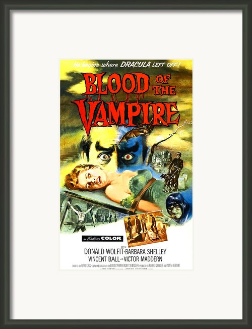 Blood Of The Vampire, Woman On Table Framed Print By Everett