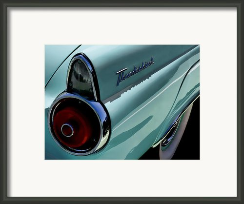 Blue 1955 T-bird Framed Print By Douglas Pittman