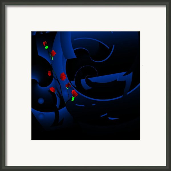 Blue Abstract Framed Print By David Lane