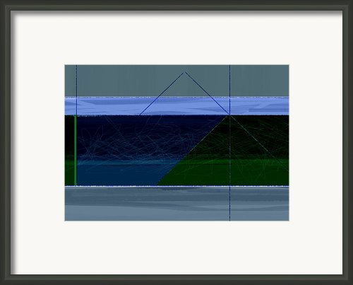 Blue And Green Framed Print By Irina  March