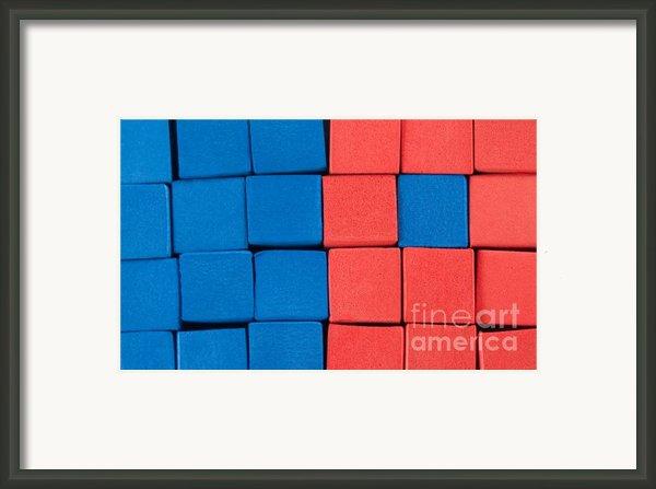 Blue And Orange Framed Print By Dan Holm