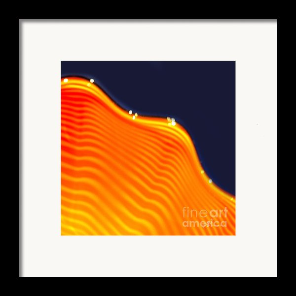 Blue And Orange Framed Print By Artist And Photographer Laura Wrede