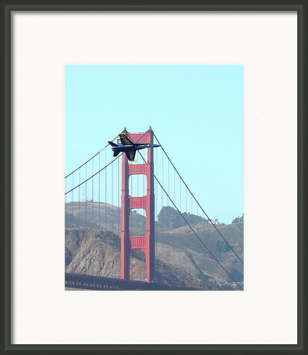Blue Angels Crossing The Golden Gate Bridge 3 Framed Print By Wingsdomain Art And Photography