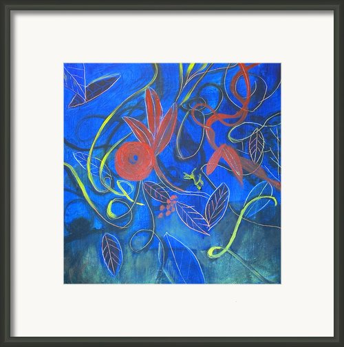 Blue Blue Garden Framed Print By Rebecca Worters