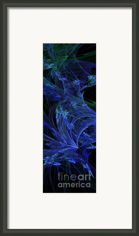 Blue Breeze Framed Print By Andee Design