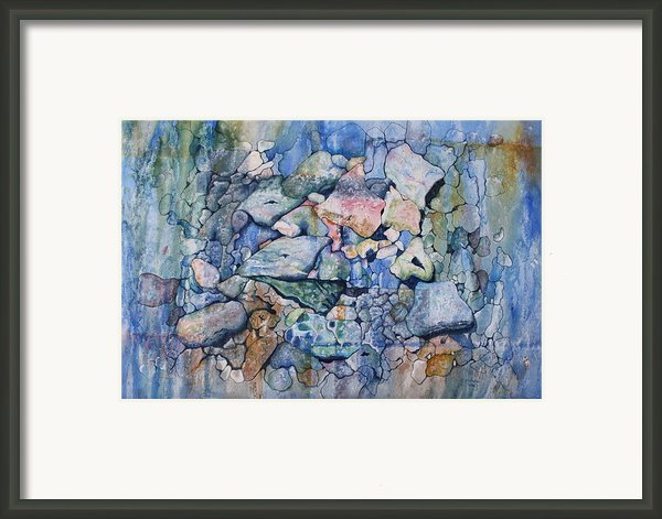 Blue Creek Stones Framed Print By Patsy Sharpe
