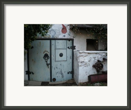 Blue Door Framed Print By Sheep Mctavish