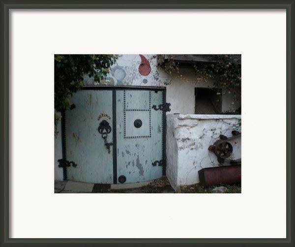 Blue Door Framed Print By Sheep Mctavish