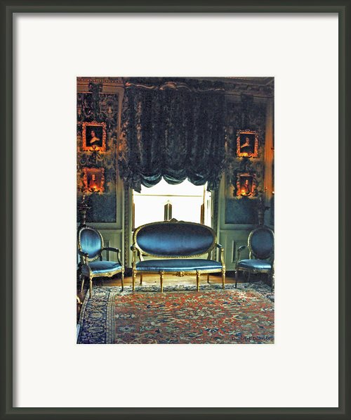 Blue Drawing Room Framed Print By Digiart Diaries By Vicky Browning
